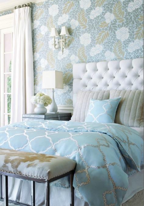 Download Thibaut bedroom wallpaper accent wall [473x675] | 47+ ...