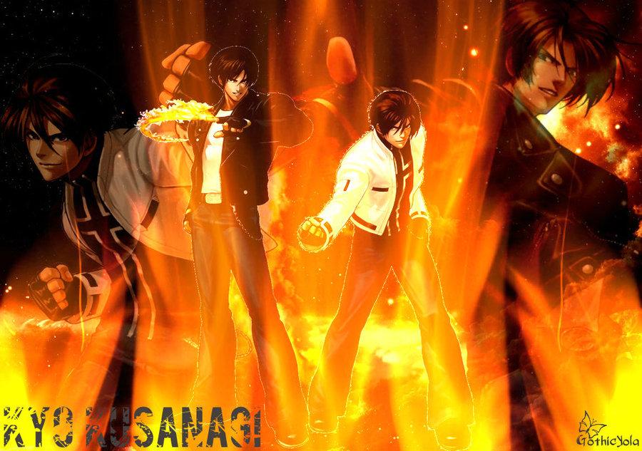 Wallpaper Fire Kyo Kusanagi KOF by GothicYola 900x633