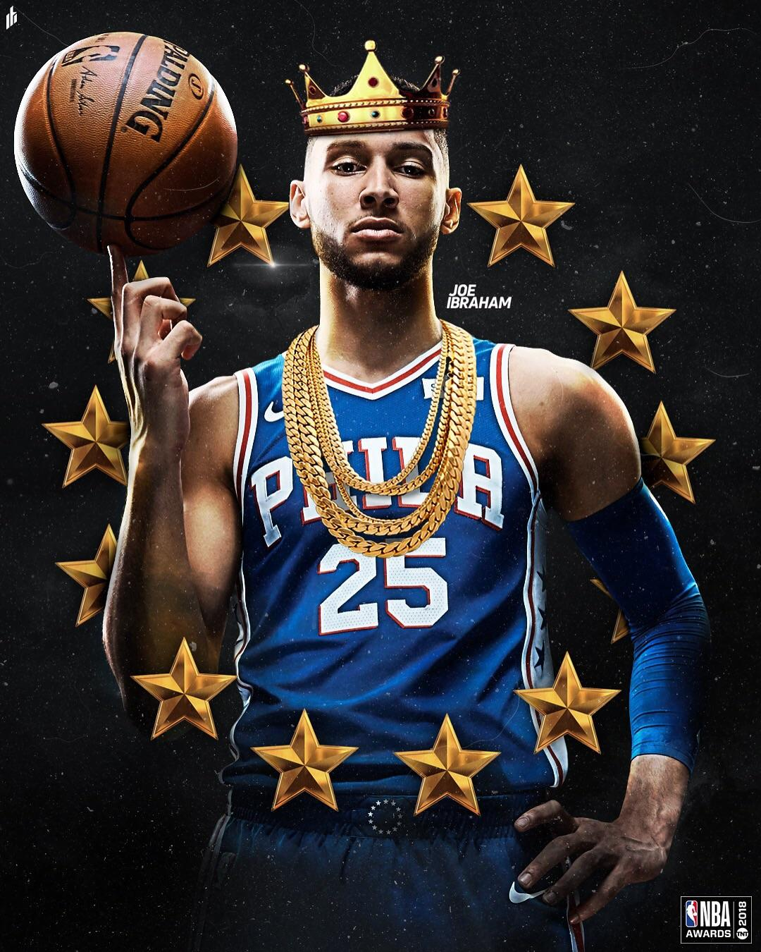 Young King Artwork I made to celebrate Ben Simmons ROY Award 1080x1350