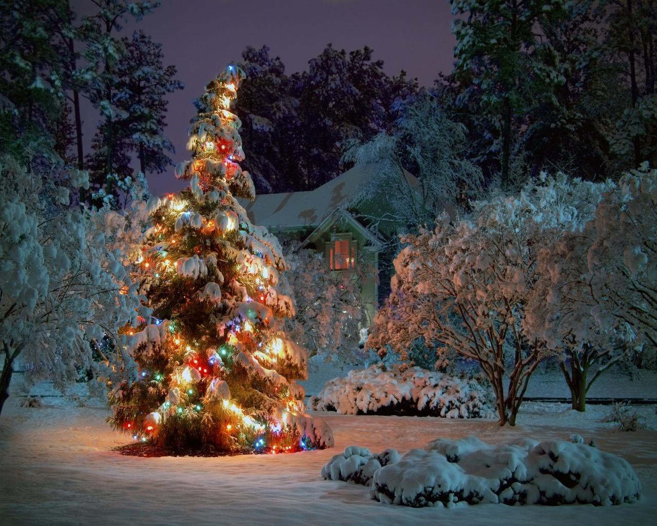 christmas tree desktop pc