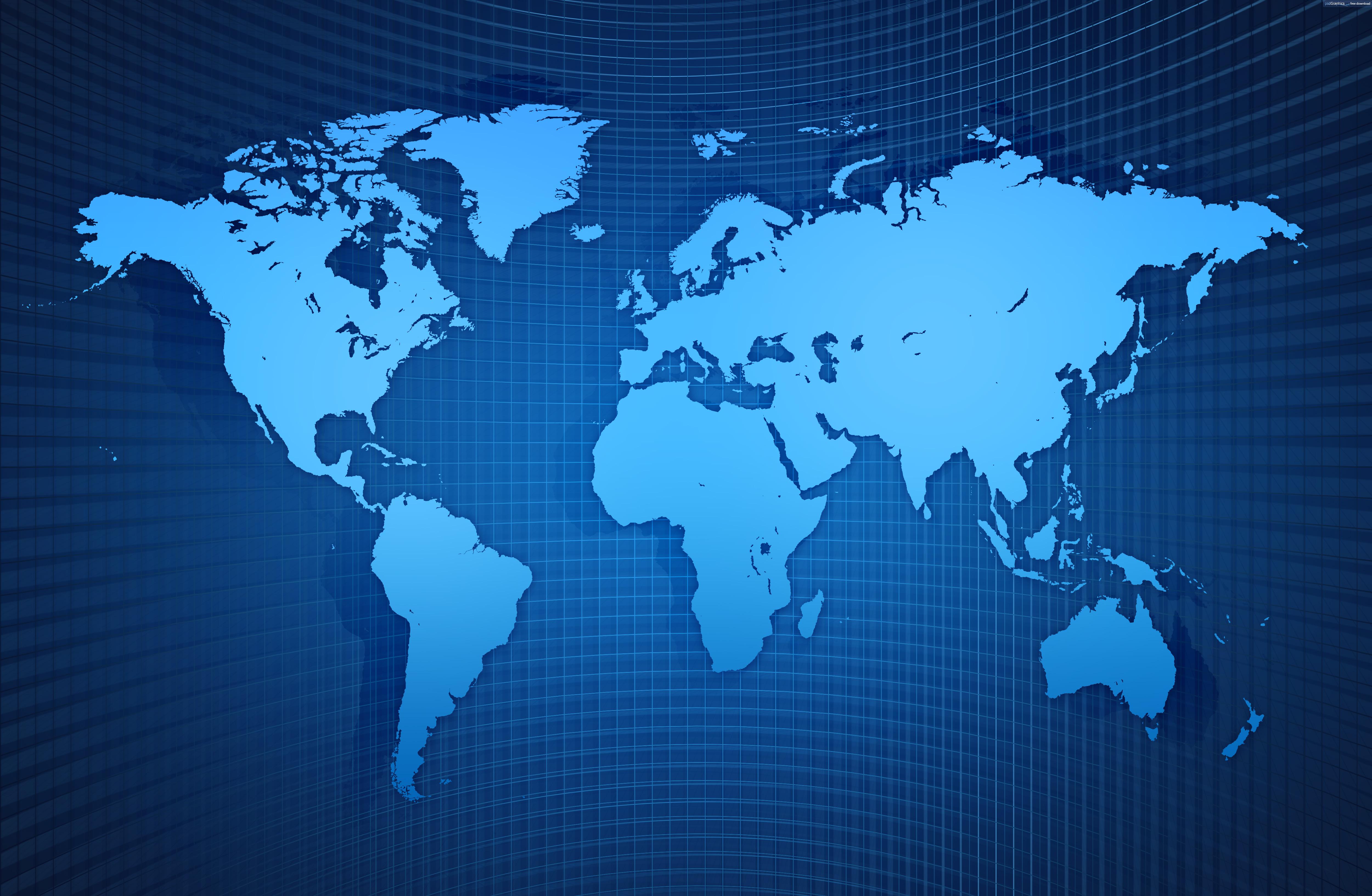 World map background PSDGraphics 5000x3264