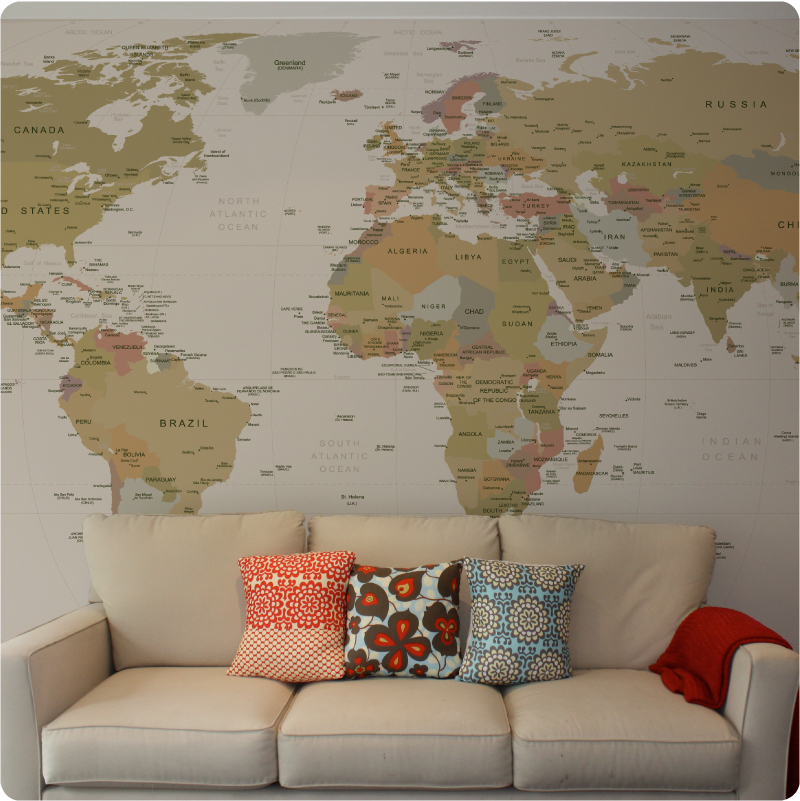 rowan tree   design lifestyle World Map Wallpaper 800x801