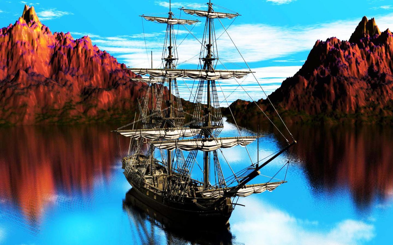 [42+] Pirate Ship Wallpaper HD on WallpaperSafari