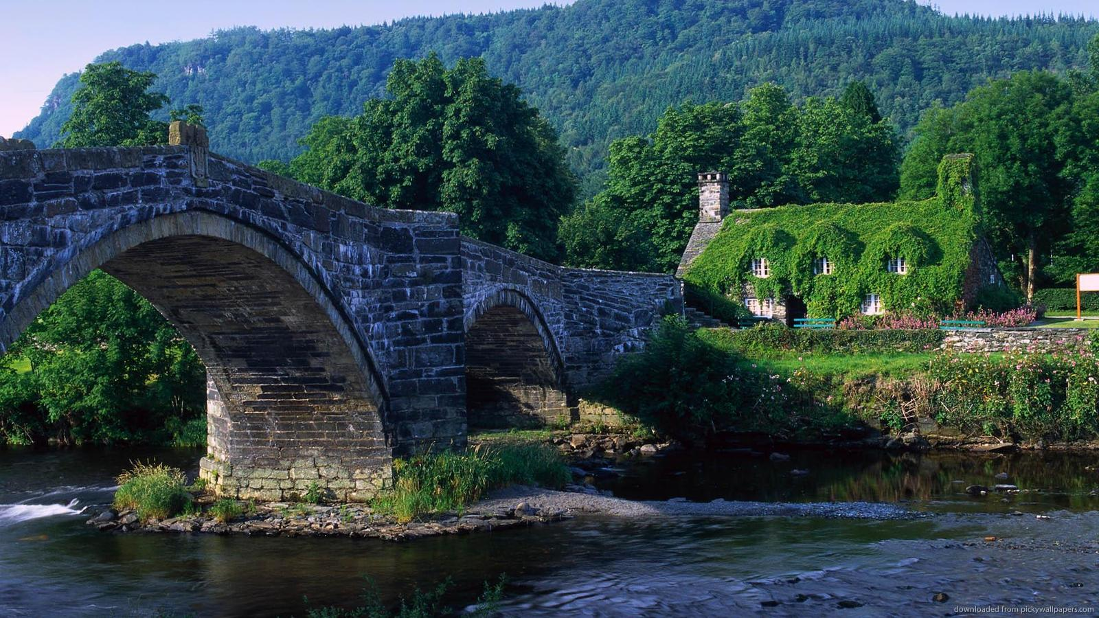 Download 1600x900 Arch Bridge Wales UK Wallpaper 1600x900
