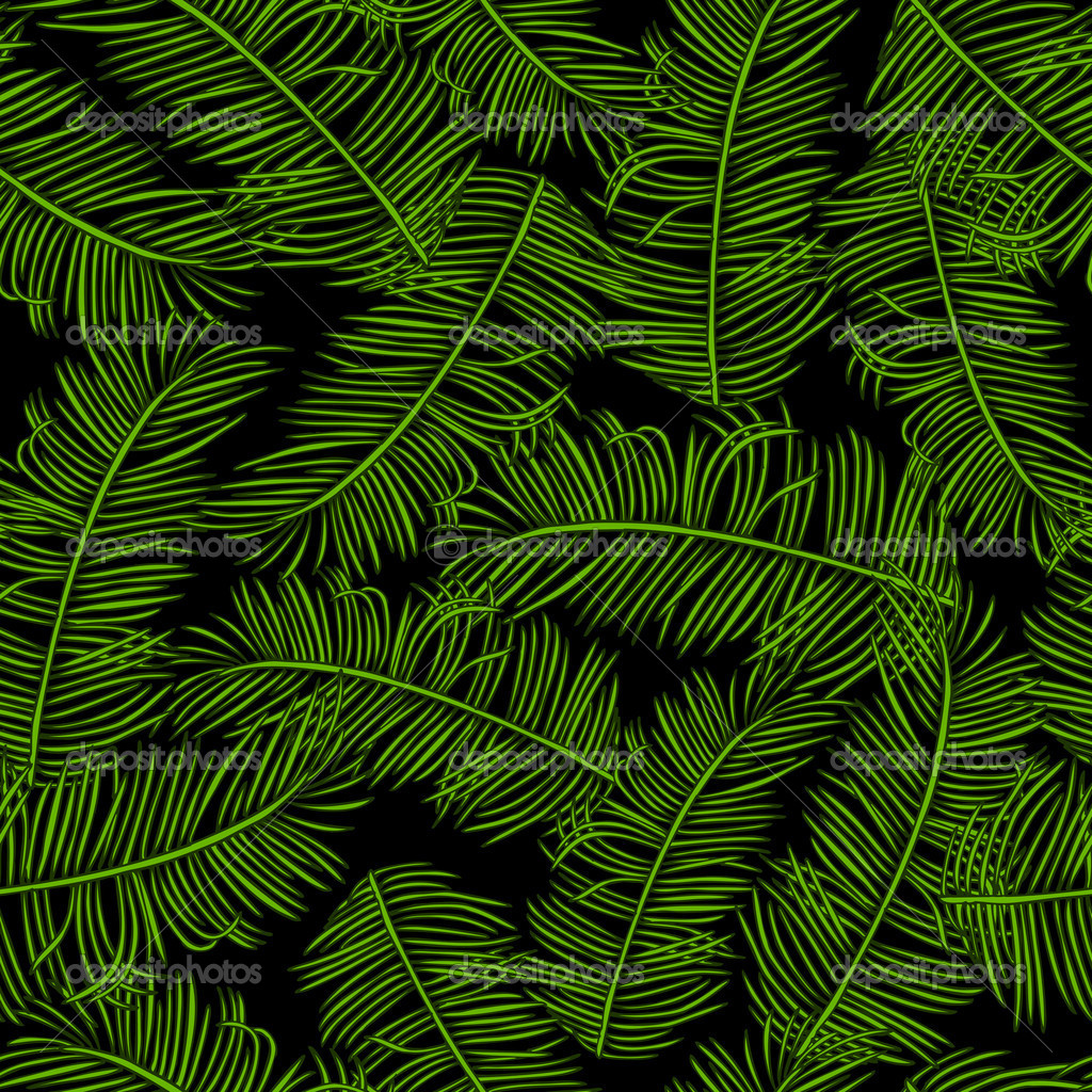 Palm Leaf Pattern Fabric Seamless pattern fabric 1024x1024