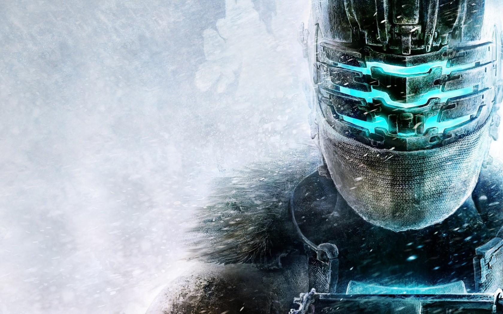 Dead Space 3 Isaac Clarke Isaac Clarke armor helmet snow 1680x1050