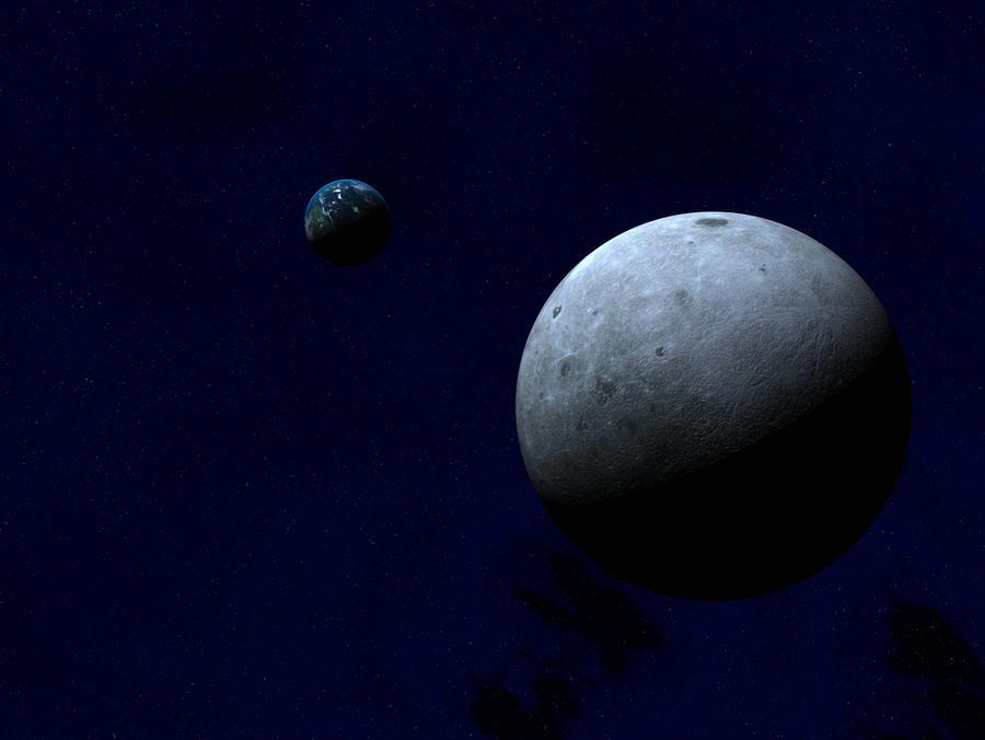 moon side earth wallpaper by Lordnarunh 900x676