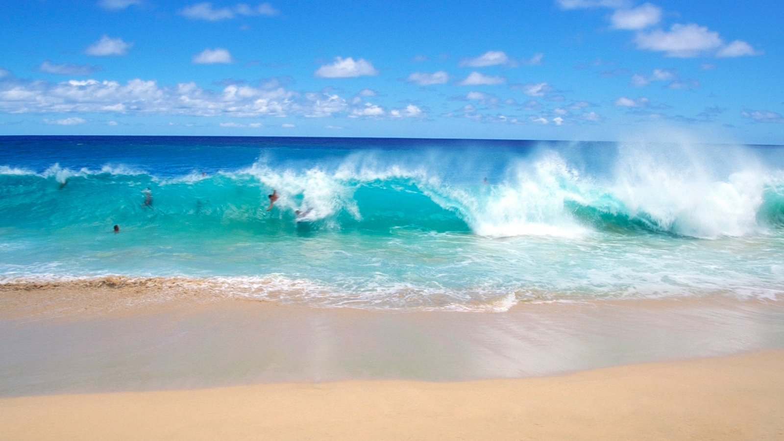 Blue Waves Beach Wallpaper Wallpapers Download Funny Photos 1600x900