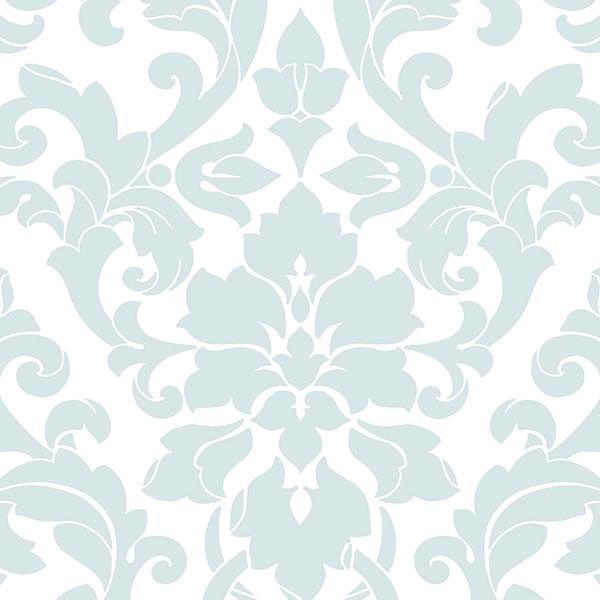 Light Blue DS29714 Modern Damask Wallpaper   Contemporary Modern 600x600