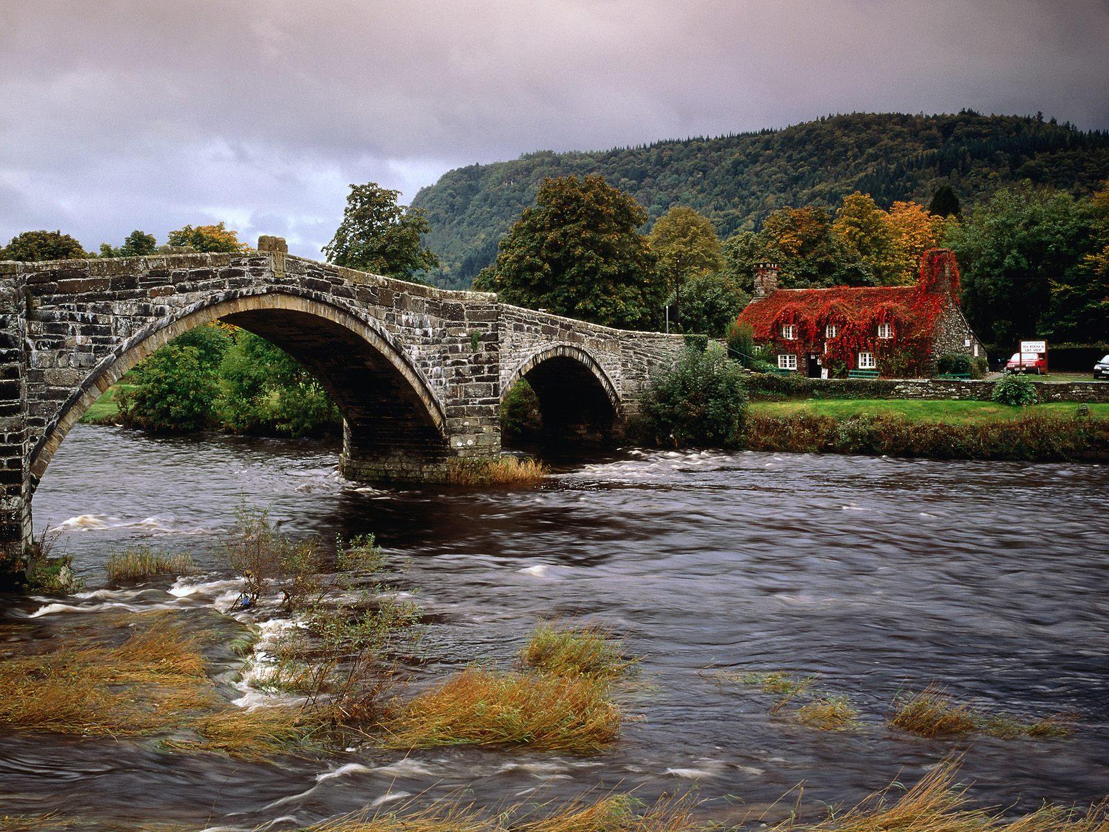 Wales United Kingdom   Bridges Roads Photography Desktop Wallpapers 1600x1200