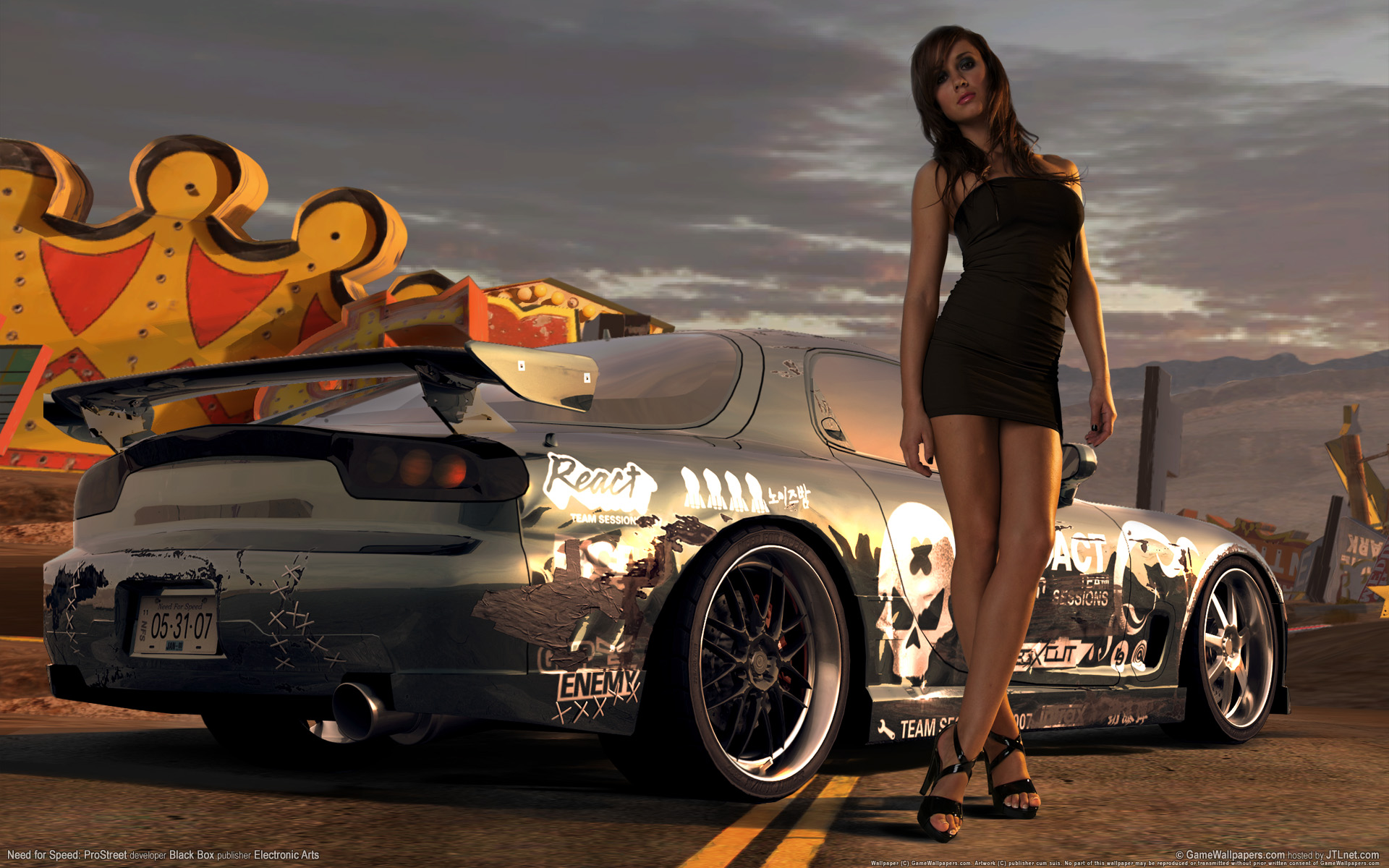 Need for Speed Prostreet Girl Wallpaper HD Car Wallpapers 1920x1200