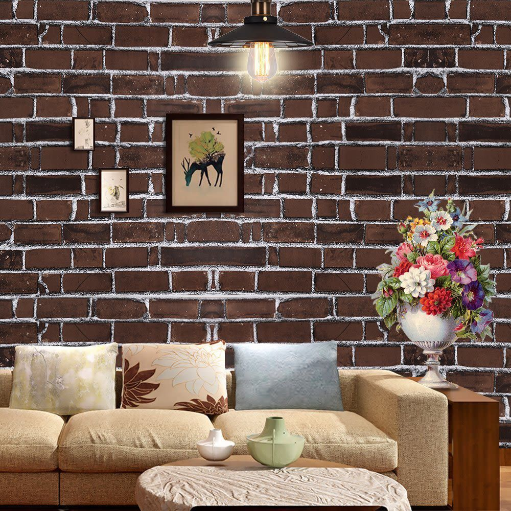 WPT Brick Stone Wallpaper Self Adhesive Blocks Wall Pattern Home 1000x1000