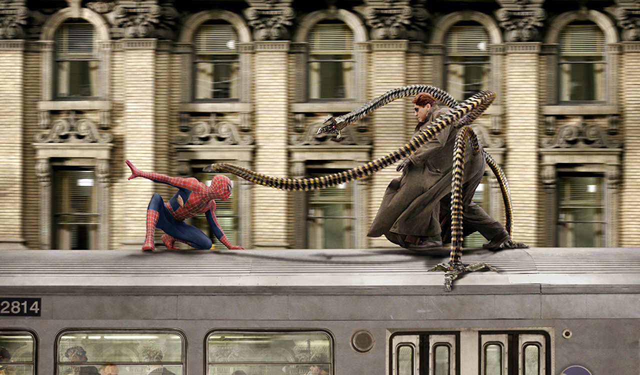 Photos Spider man Spiderman hero Tobey Maguire Peter Parker Alfred 1280x750