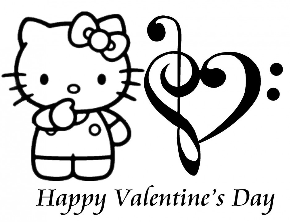 Hello Kitty Valentines Day Coloring Pages HD Wallpapers HD 251894 940x720