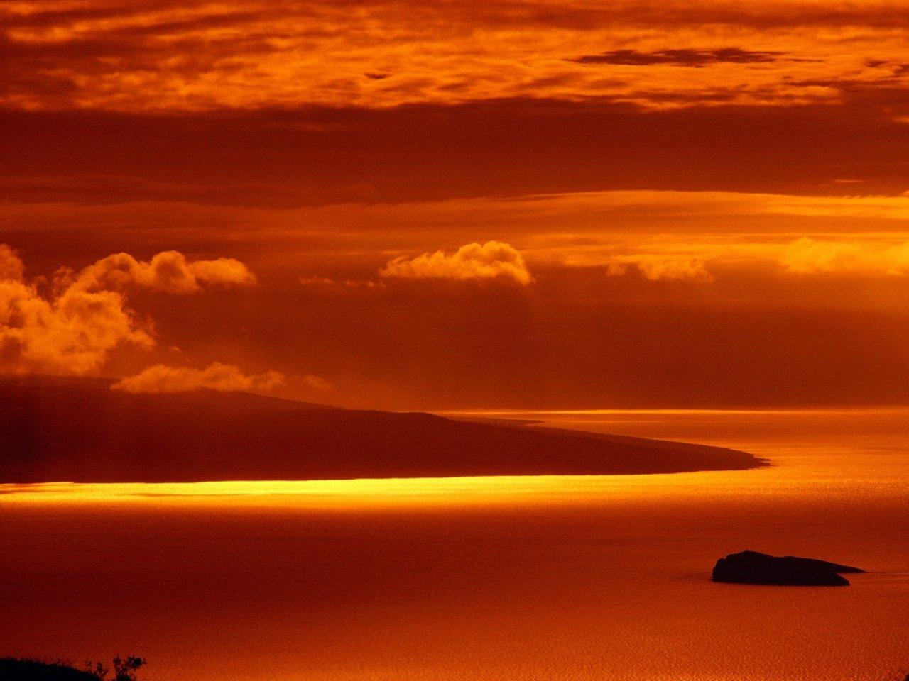 1280x1024 Hawaii Hot Sunset desktop PC and Mac wallpaper 1280x960