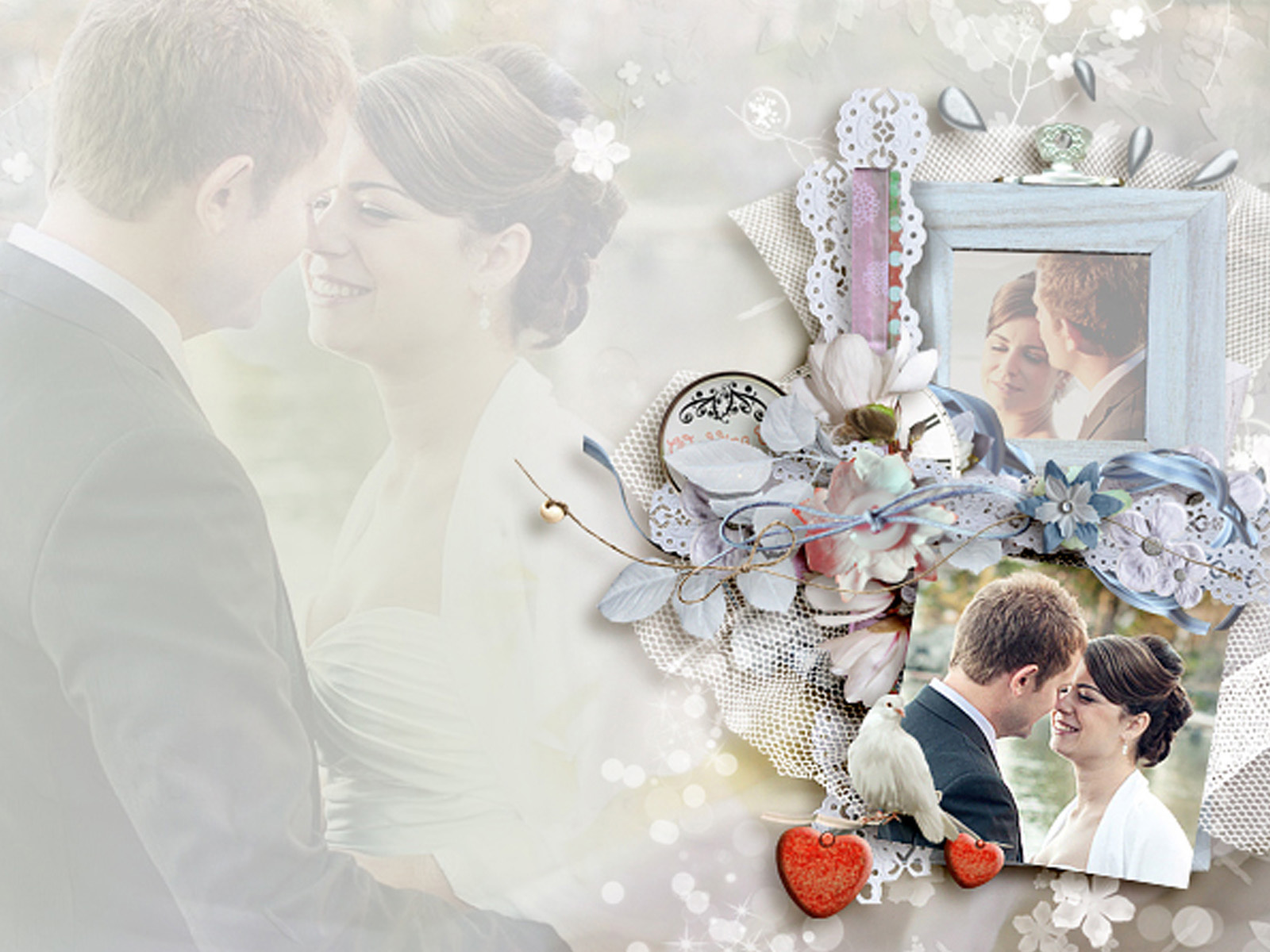 Special Wedding Day PPT Backgrounds for your PowerPoint Templates 1600x1200