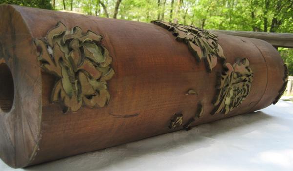Antique Wooden Wallpaper Roller 600x351