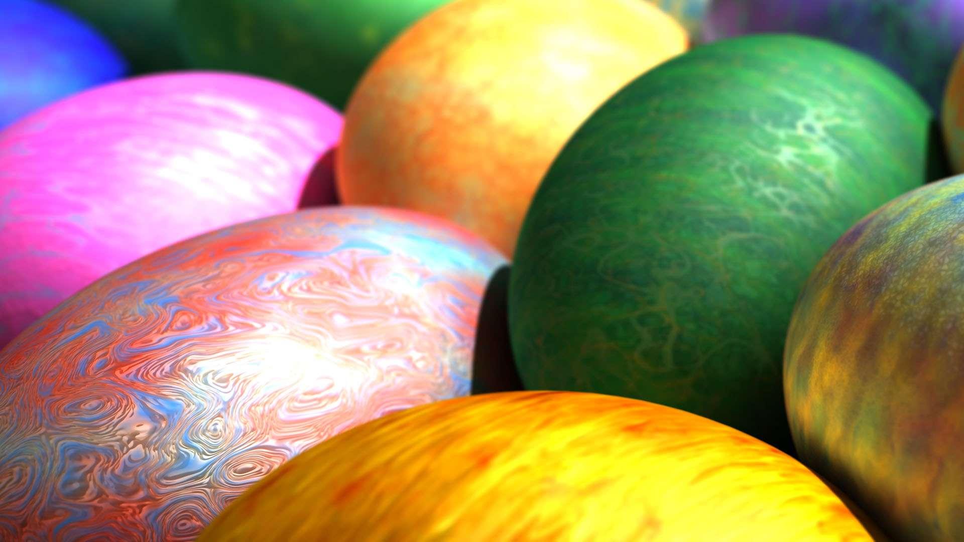 Colored Easter Eggs HD Wallpaper FullHDWpp   Full HD 1920x1080