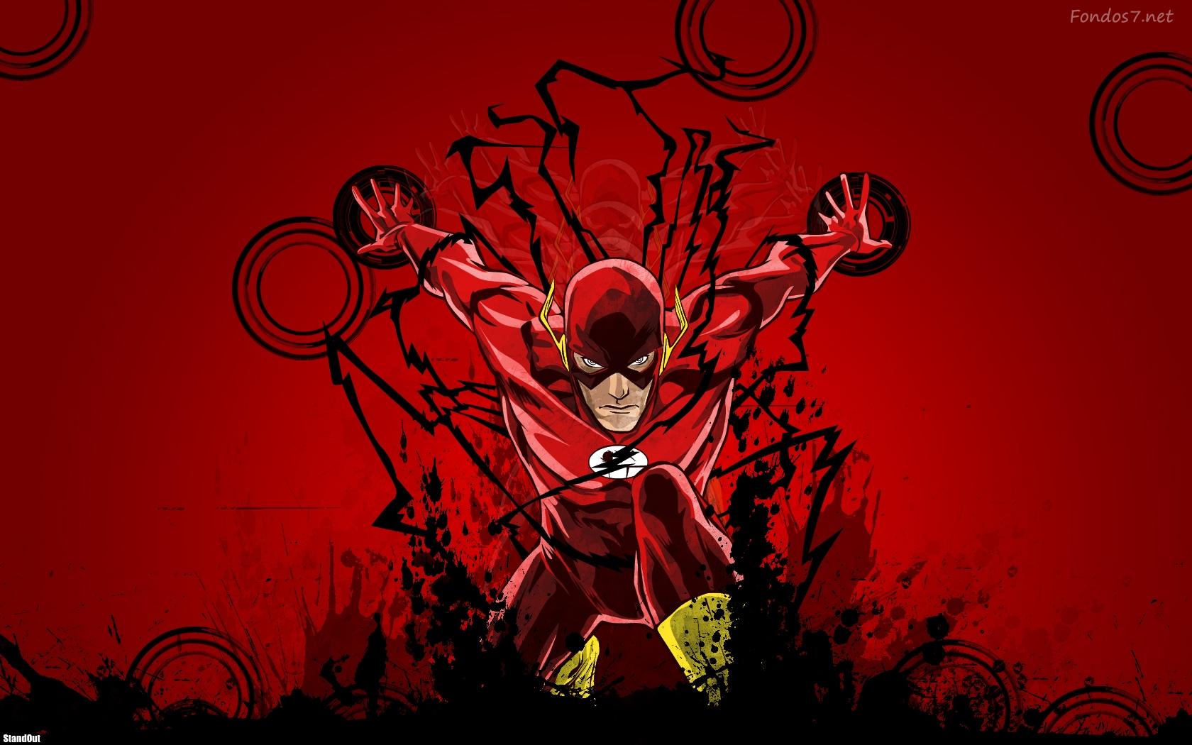 Descargar Fondos de pantalla el hombre flash comics hd widescreen 1680x1050