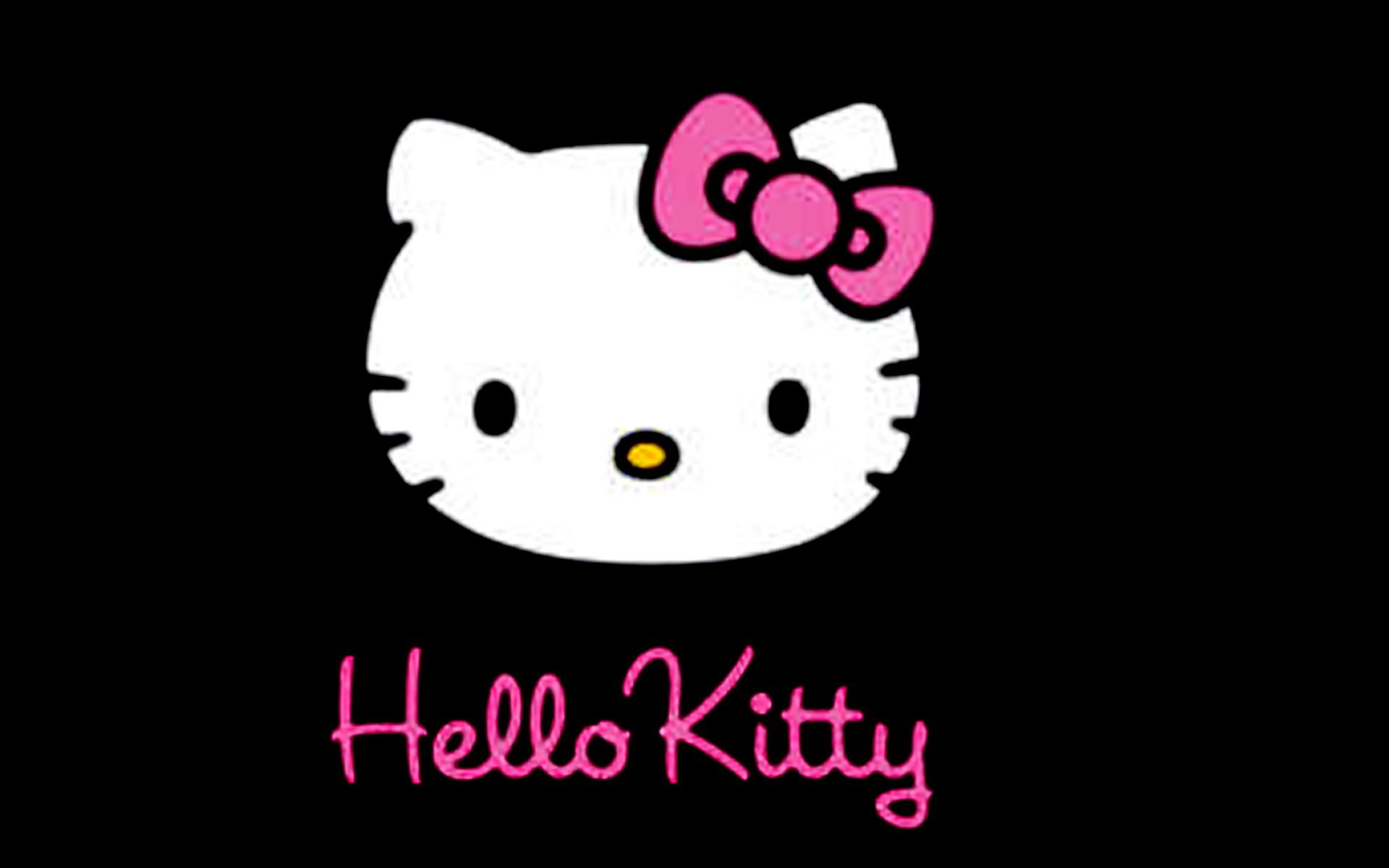 hello kitty black backgrounds hd wallpaper background desktop