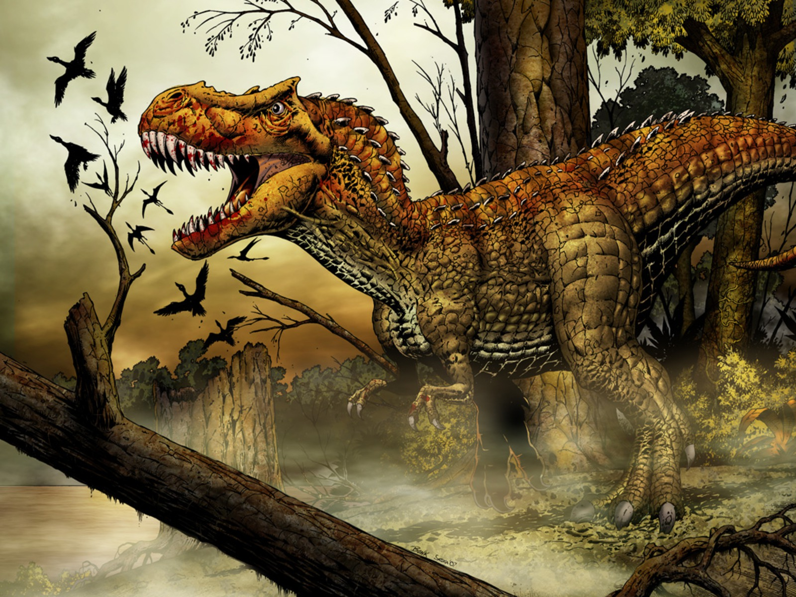 T Rex Wallpapers Animal Literature 1600x1200