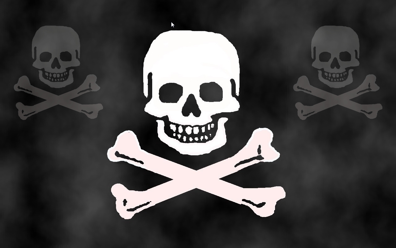 WinCustomize Explore Screensavers Pirate Skull Screensaver 1280x800