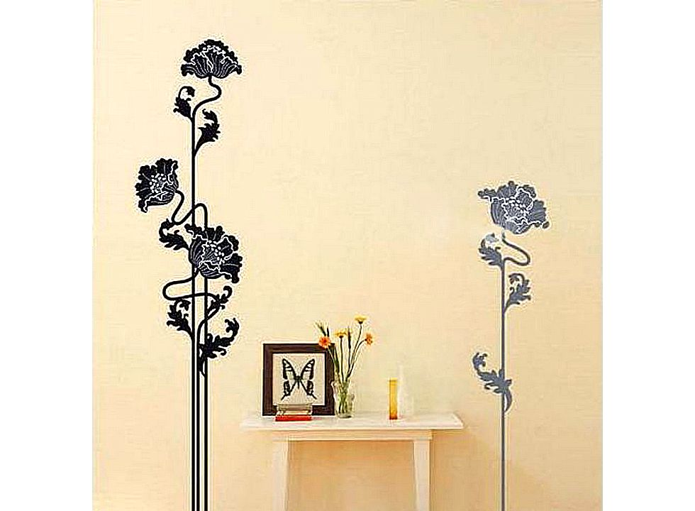 Flower Pattern Graffiti Removable Wallpaper JH083 Buy at lowest 980x720