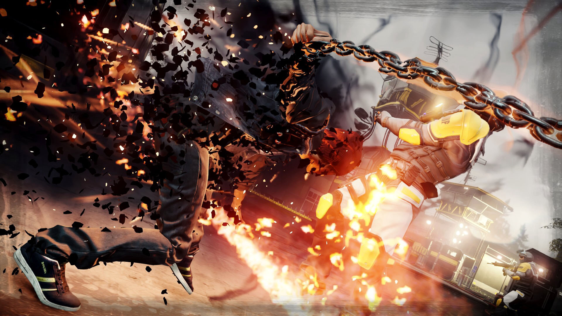 Free Download Delsin Fighting With Chains Infamous Second Son