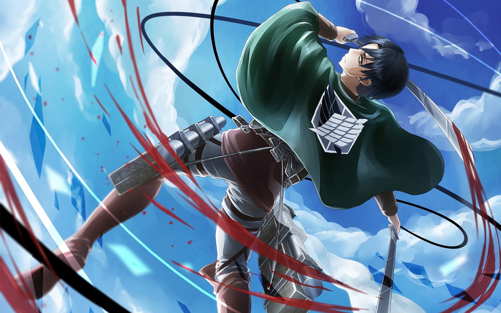 Attack on Titan Shingeki no Kyojin Anime Wallpaper HD e05 Scarf Clouds 1600x1000