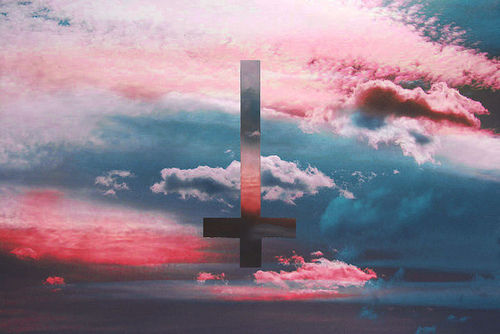 upside down cross Tumblr 500x334