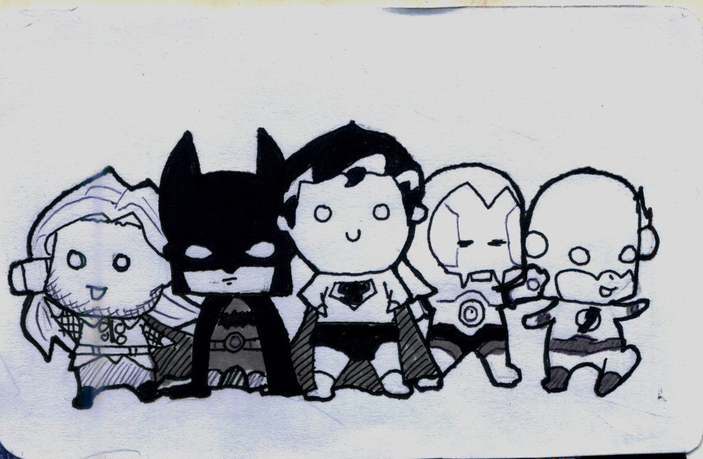Cute Superheroes Wallpaper Superheroes by cute aholic 1024x670