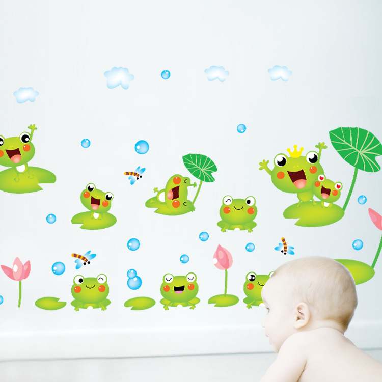 Cute Christmas Cartoon Wallpaper Cute Cartoon Animal Kids Bedroom Wall 750x750