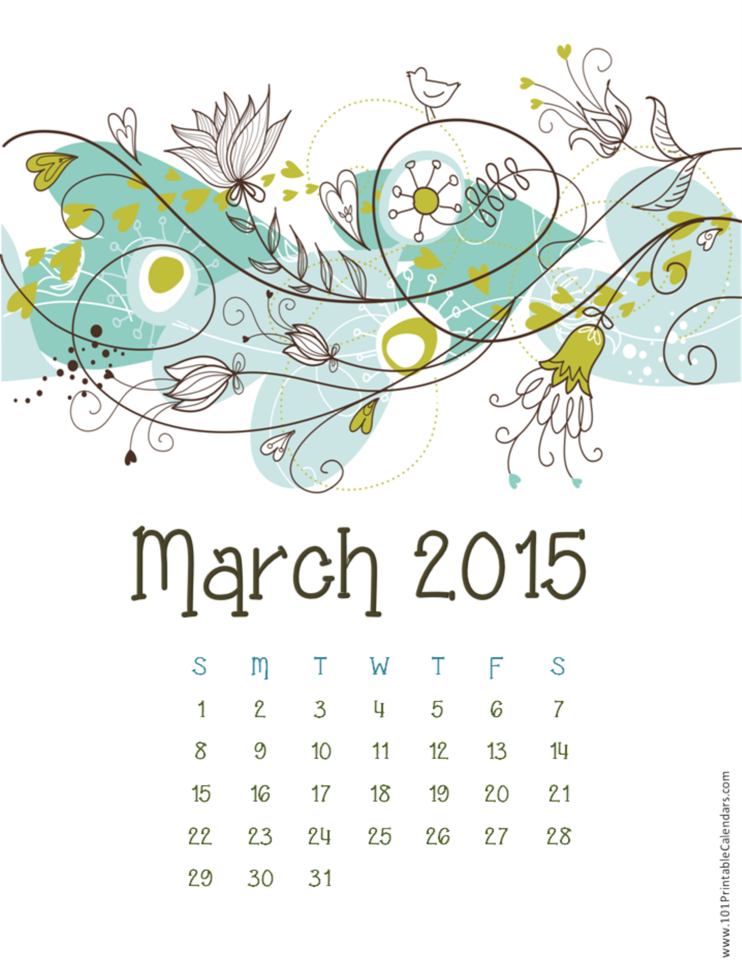 Beautiful March 2015 Calendar Images Pics and Wallpaper HD Happy 2550x3300