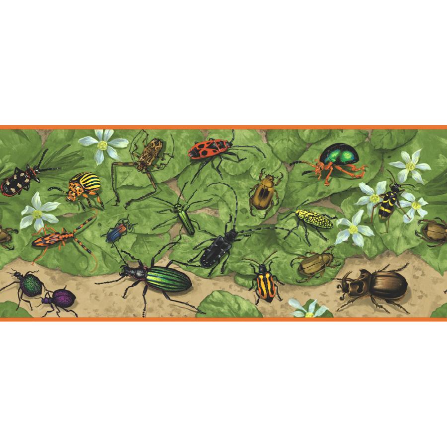 Shop Sanitas 9 Beetles Prepasted Wallpaper Border at Lowescom 900x900