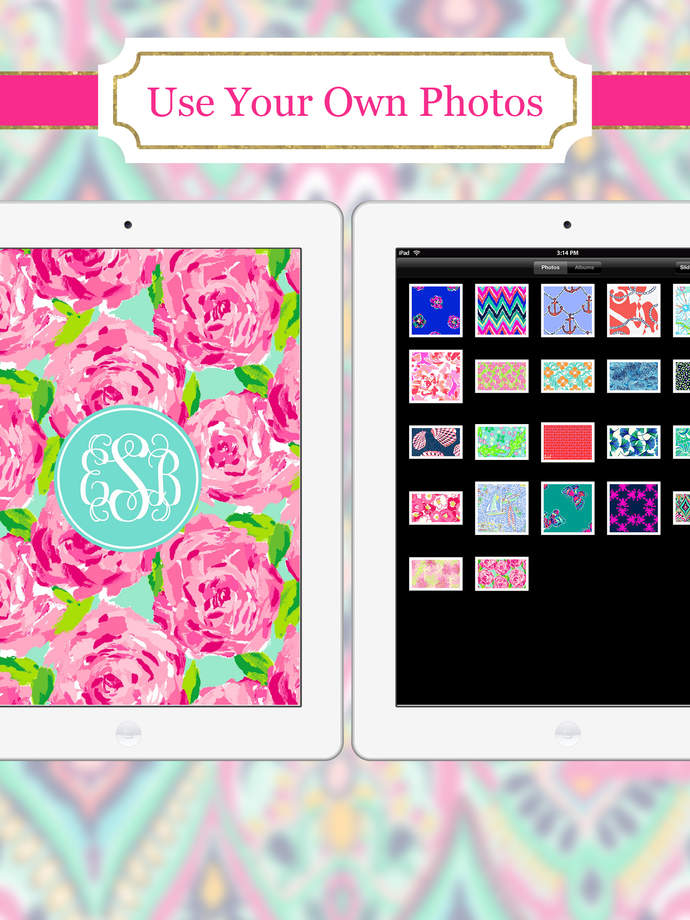 Monogram   Wallpaper Backgrounds Maker HD DIY with Glitter Themes 690x920
