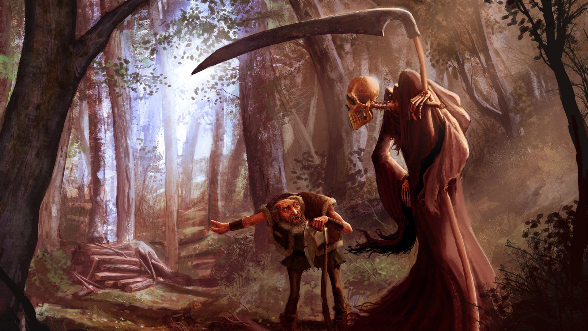 Free Download Death And The Old Man In The Woods Wallpaper 21751 1920x1080 For Your Desktop Mobile Tablet Explore 69 Old Man Wallpaper Old Man Wallpaper Old Wallpaper Old Wallpapers