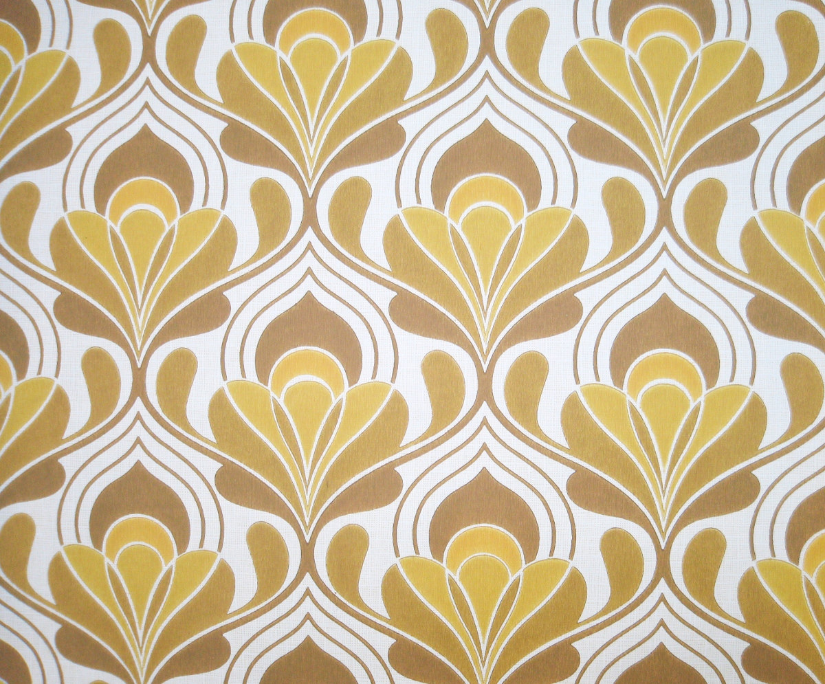 1970s Wallpaper Patterns Vintage wallpaper brown 1200x995