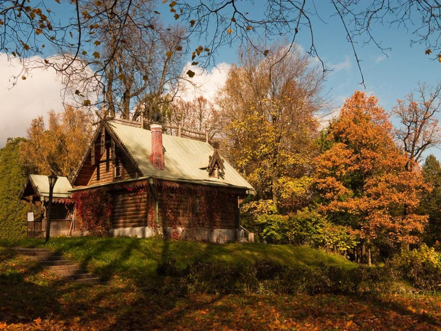 autumn cabin wallpaper desktop - photo #5