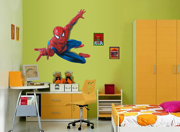 3D Crazy Spiderman Wallpaper Kids Room Decal Wall Sticker Removable 705x518