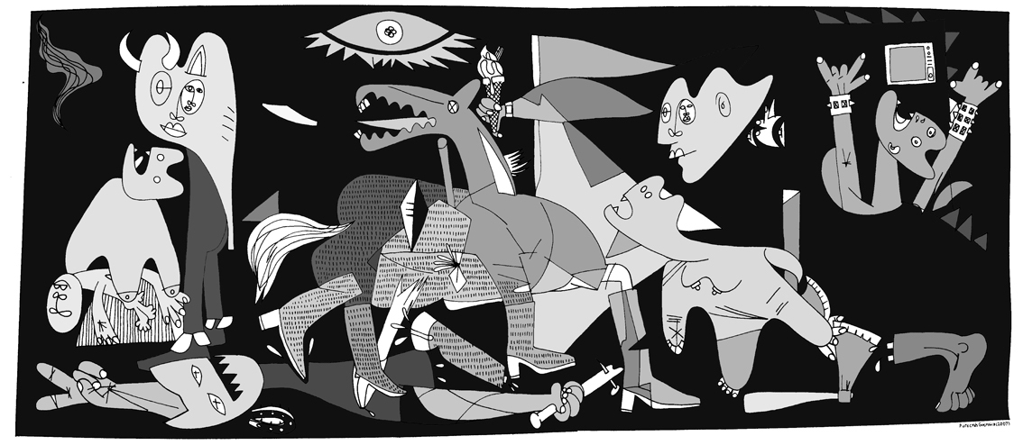 Guernica Wallpaper Pablo Picasso Paintings Background 1134x494