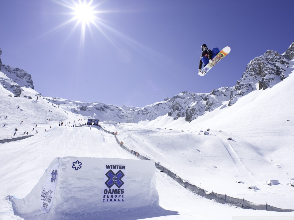 Winter Games Europe Tignes 4K HD Desktop Wallpaper for 4K Ultra 1024x768