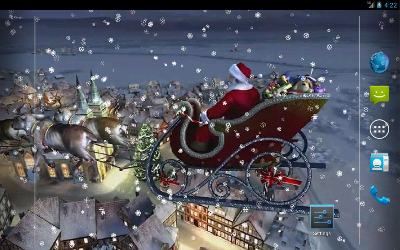 Christmas 1 live wallpaper for android 3D Christmas 1 live wallpaper 1280x800