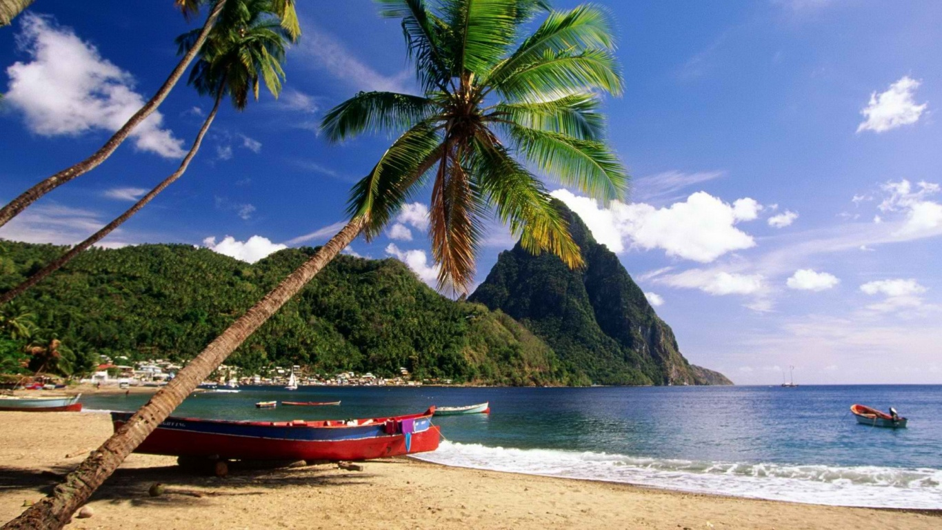 1366x768 Caribbean Beach desktop PC and Mac wallpaper 1366x768