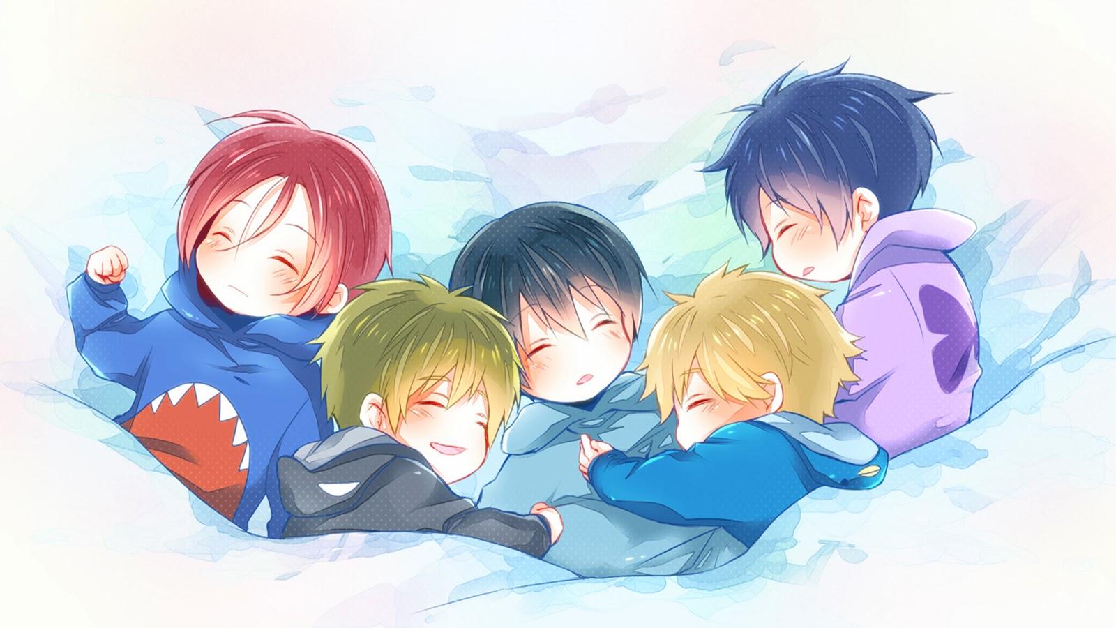 Anime Chibi Boys a438 HD Wallpaper 1600x900