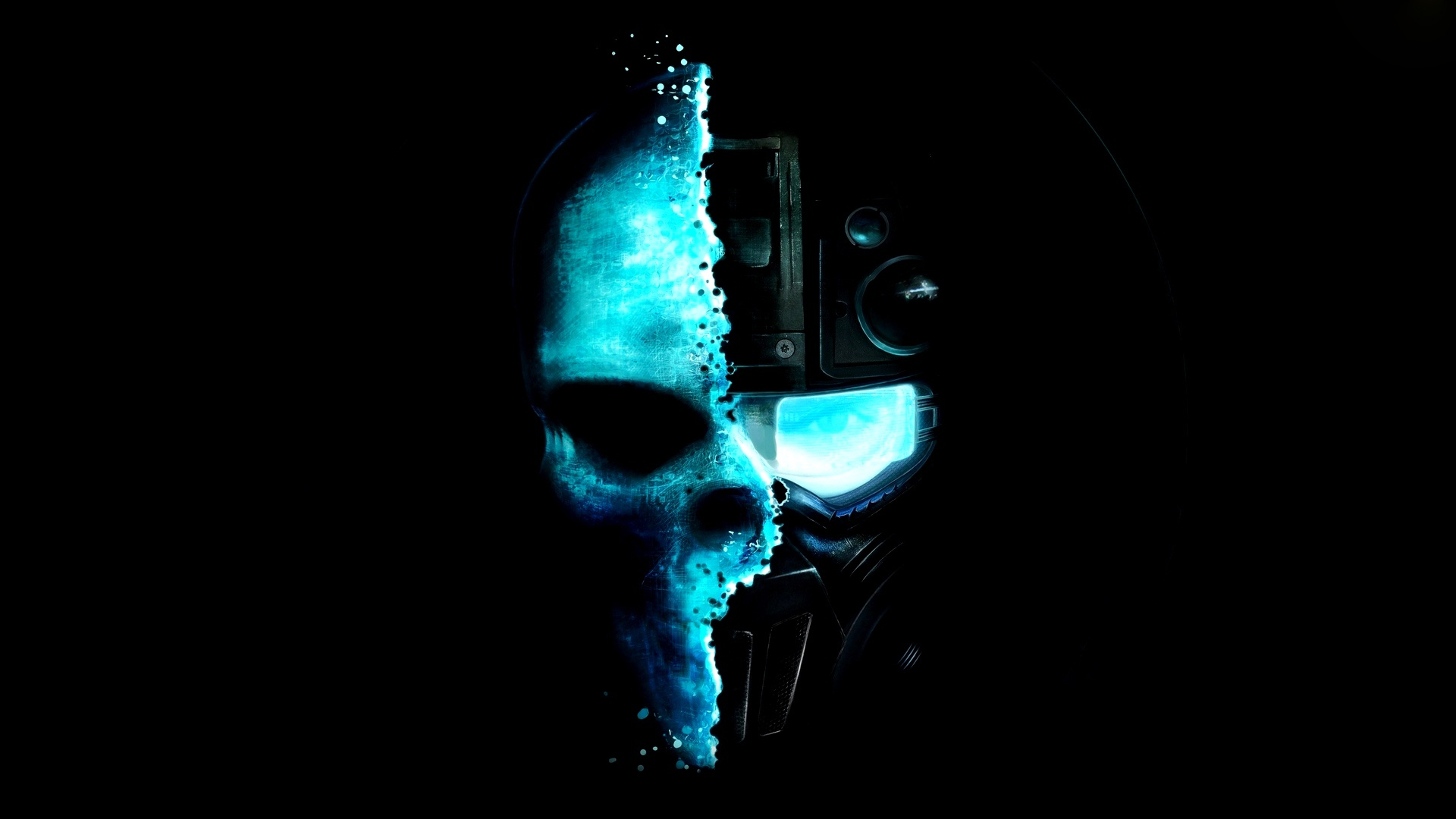 Cool Blue Skull Wallpaper PC 297 Wallpaper WallpaperLepi 1920x1080