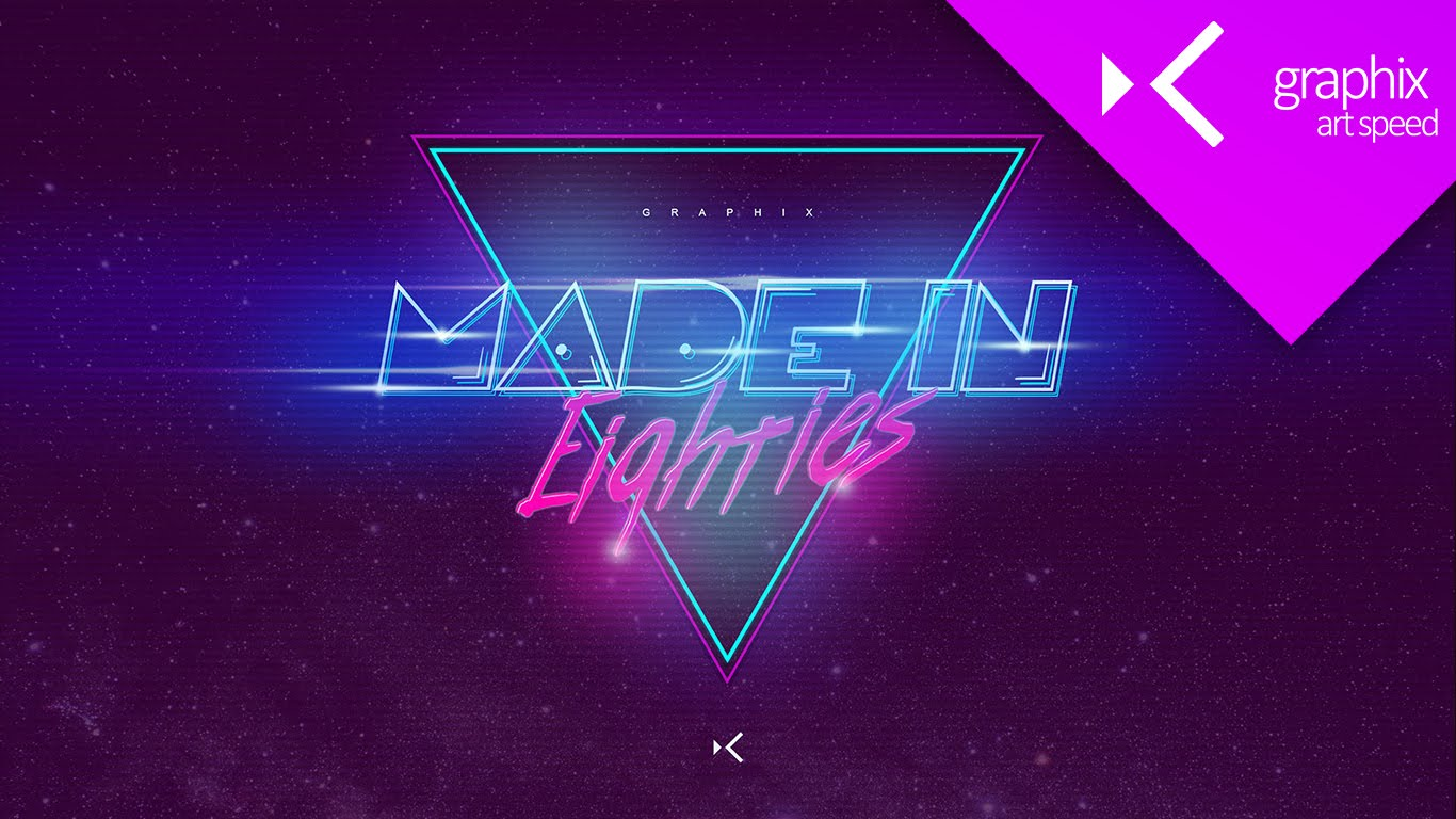 Made in 80s Wallpaper   Art Speed Graphic Design Concept 1366x768