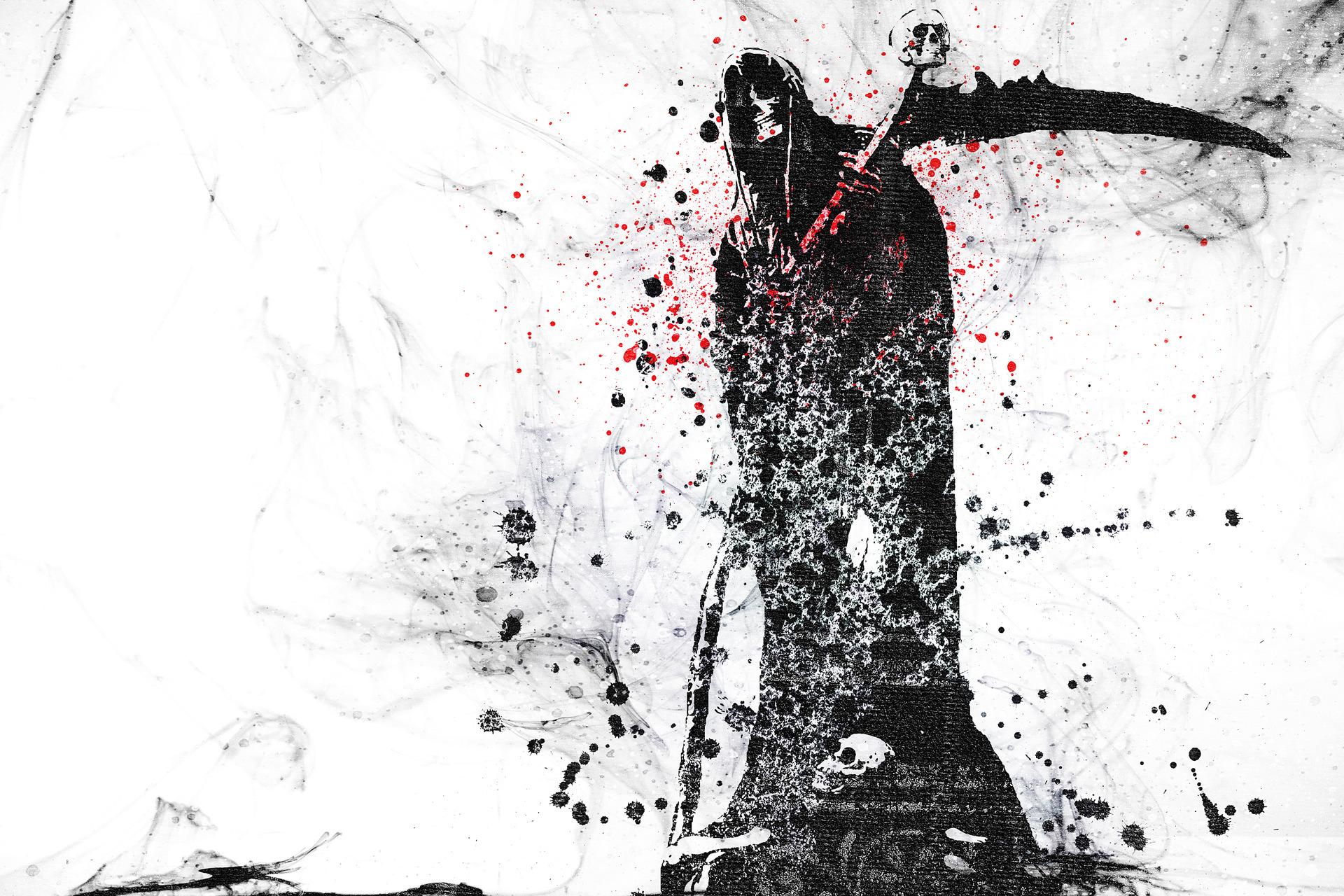Dark Grim Reaper horror skeletons skull creepy n wallpaper 1920x1280 1920x1280