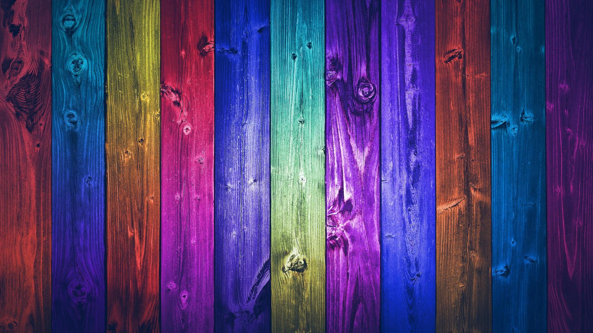 Colorful Wooden Plates Desktop Wallpaper 1920x1080