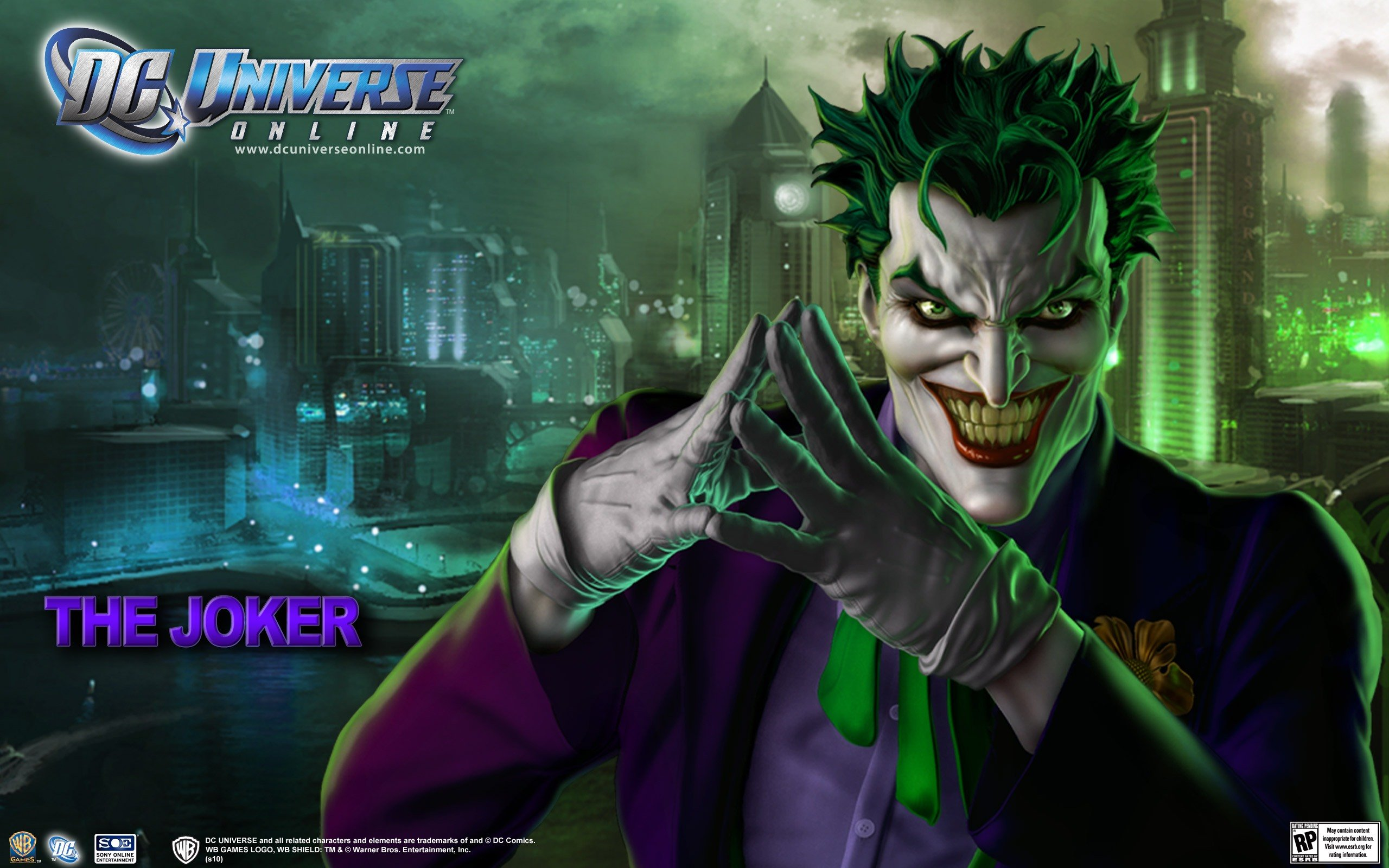 DC Universe Online   Joker desktop wallpaper 2560x1600