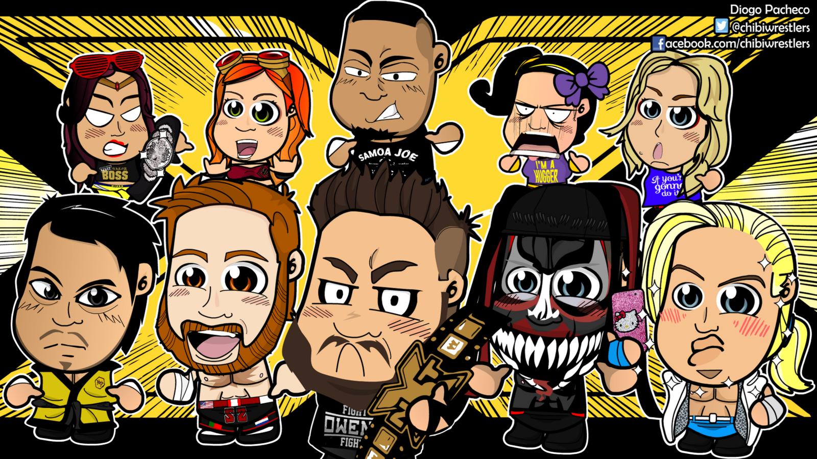 NXT Chibi Wrestlers Wallpaper By Kapaeme 1600x900